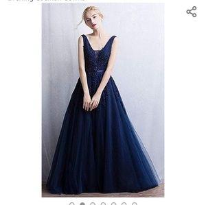 Formal dress / NAVY BLUE